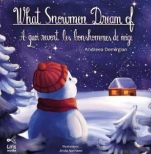 """Cover image for """"What Snowmen Dream of"""" English-French edition"""